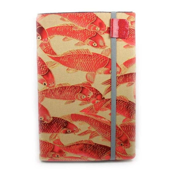 Kindle Fire cover - Burning Embers Koi - Kindle hardcover - ready to ship