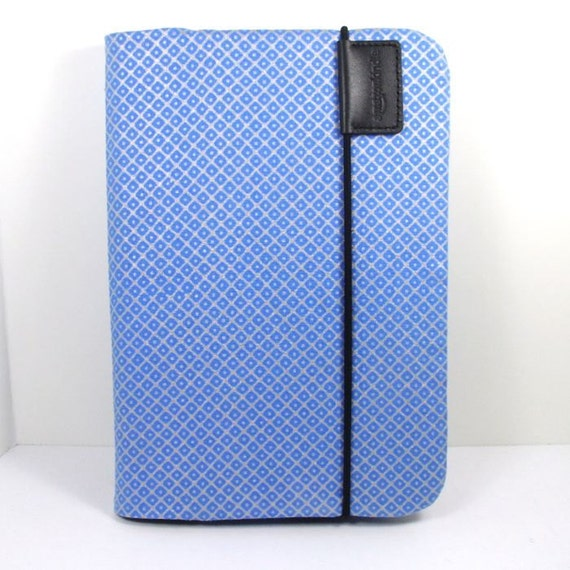 slipcover for Kindle Keyboard lighted cover - Blue and Silver - fits amazon lighted leather cover