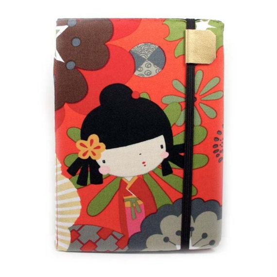 Cute Kindle Cover - kawaii Kokeshi - hard cover for kindle 4 - ready to ship