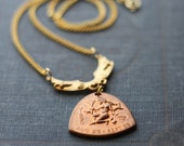 The Virgin Virgo Horoscope Zodiac Astrology Necklace As seen in Cleo Magazine and Refinery29