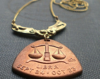 The Scales Libra Horoscope Zodiac Astrology Necklace