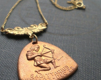 Sagittarius Zodiac Horoscope Astrology Necklace - The Hunter