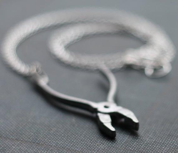 Reserved for skeletonofshenna: Pliers Hardware Handyman Tool Necklace