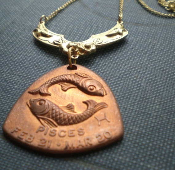 Water Sign Pisces Horoscope Zodiac Astrology Necklace