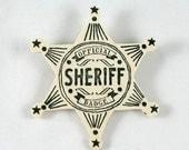 Wooden Sheriff Badge