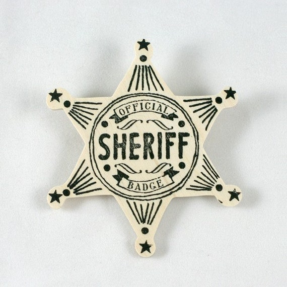 Wooden Sheriff Badge