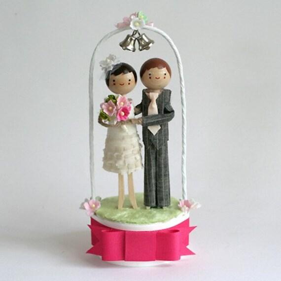 CUSTOM Wedding Bells Cake Topper