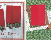 HAPPY HOLLY DAYS Premade Album Pages Handmade