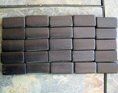 25 - Black Double Drilled Bamboo Tiles for Your Art Projects