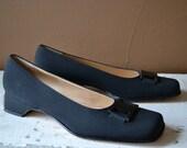 VTG Ferragamo Size 8.5 Square Toe Heels // Never Worn