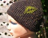RESERVED for KRISTA  Green Leaf Tweed Hat