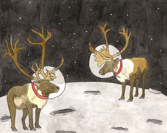 Caribou Moon 8x10 print