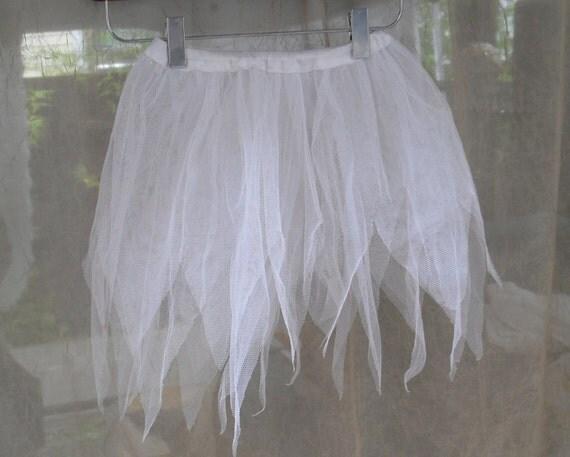 Girls white Tutu - size 6 7 8 / fairy / snow angel