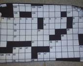 Crossword Zipper Pouch