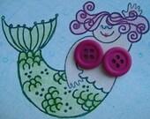 Matte Magenta Button Stud Earrings
