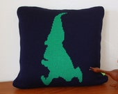 Gnome on the Run Knit Pillow with Faux Down Stuffer