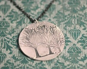 My Favorite Tree - Family Tree Necklace Silver Tree of Life Jewelry - Tree of Life Mothers Necklace - Nature Necklace - Gift - Hand Stamped