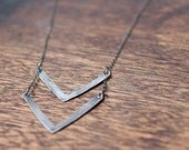Rank - Large Chevron Necklace Gold Chevron Necklaces Gold V Necklace Charm Chevron Pendant Trendy Jewelry Dainty Chevron Necklace