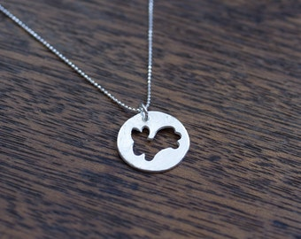 Silver Necklace, Rabbit Necklace, Bunny Necklace, Silver Bunny, Silver Rabbit, Rabbit Pendant, Bunny Pendant, Small Bunny, Animal Jewelry