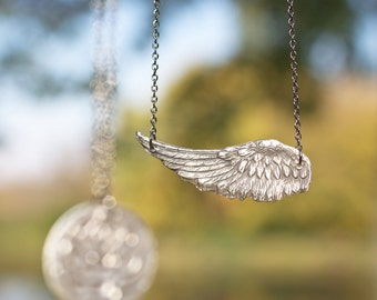 Angel Wing Necklace - Mother, Sister, Friend Gifts - Memorial Jewelry - Wing Necklace - Angel Pendant - Silver Angel Wing Necklace