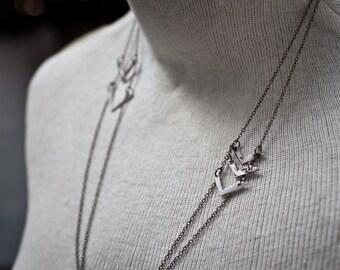 radar necklace - arrow necklace - bohemian necklace - boho arrow necklace - chevron necklace - chevron jewelry - sterling silver chevron