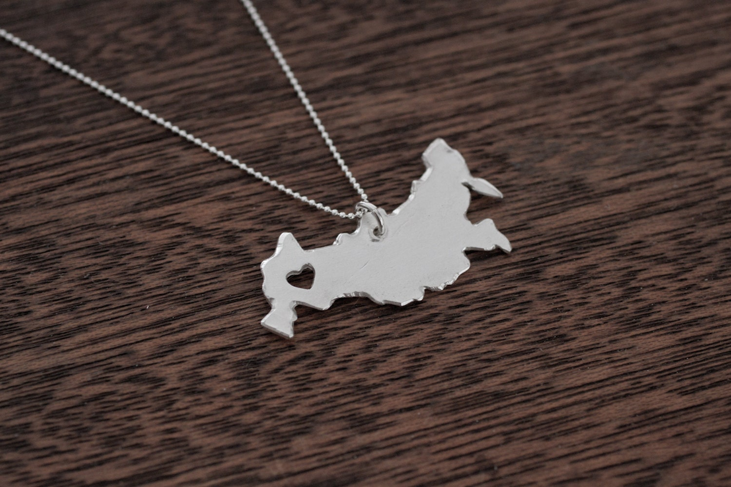 Map Necklace Etsy - Chicago map necklace