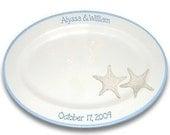 Starfish Beach Wedding Guest Signature Platter
