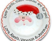 Jolly Old St. Nick Personalized Cookies Plate