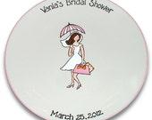 Bridal Shower Girl Guest Signature Platter