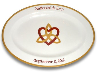 Celtic Knot Wedding Guest Signature Platter