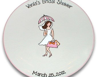 Bridal Shower Girl Guest Signature Platter