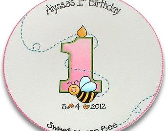 Happy Bumble Bee 1st Birthday Signature Platter