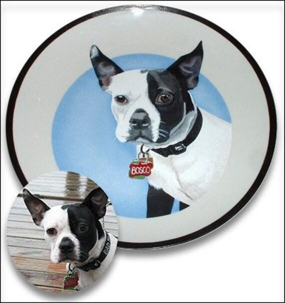 Custom Painted Pet Portrait Decorative Plate
