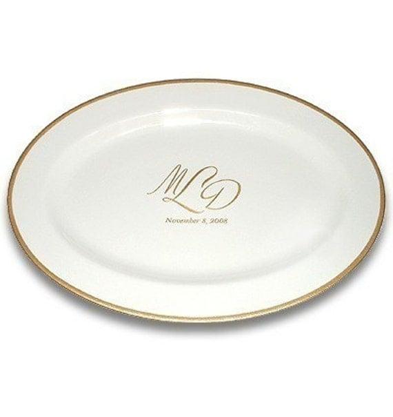 Custom Monogram Wedding Signature Platter