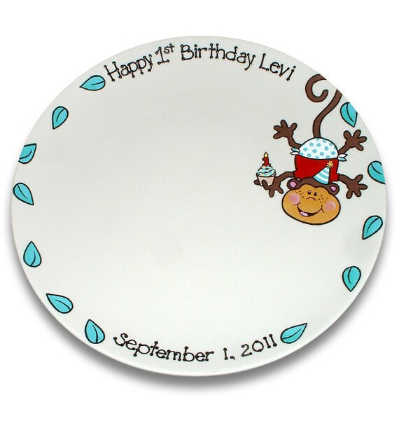 Spunky Monkey's First Birthday Cupcake Signature Platter