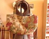Knitting Bag Asian Print