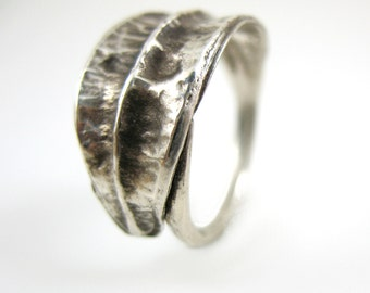 Sterling Silver Ring, Iris Seed Pod