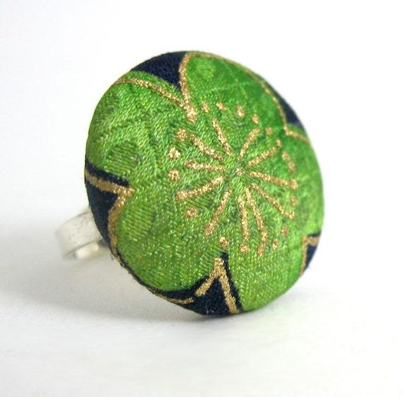 Green Sakura Ring
