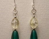 Sterling Silver and Glass Bead Earrings