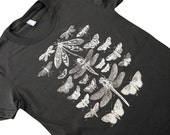 Moth Butterfly Dragonfly T-Shirt - Winged Insect Collection American Apparel Ladies Shirt - (Available in sizes S, M, L, XL)