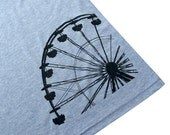 Womens Ferris Wheel T-Shirt - Carnival Blue American Apparel Shirt - (Available in sizes S, M, L, XL)