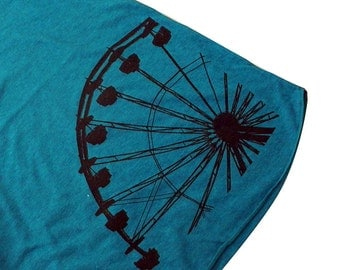 Ferris Wheel Tank Top - American Apparel Tri-Blend Tank - Available in sizes S, M, L