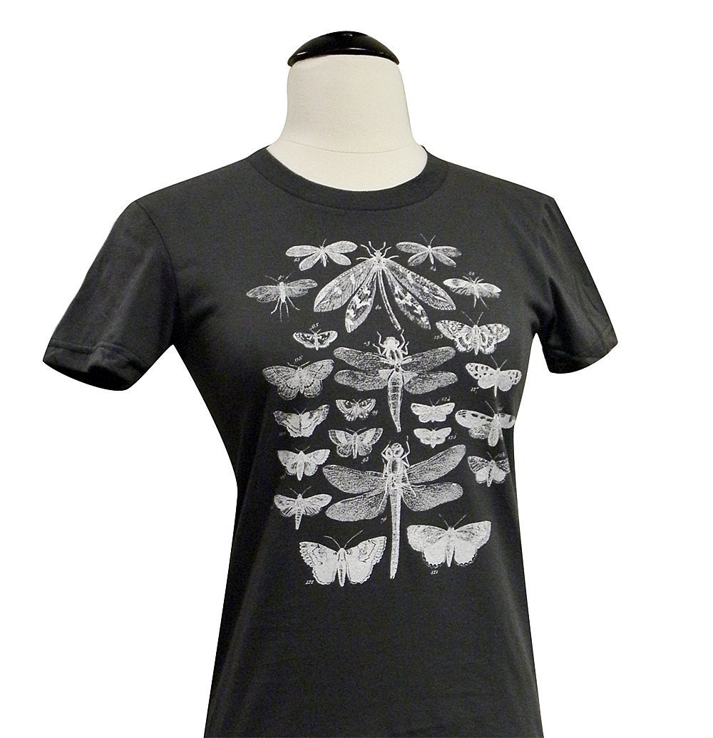 Moth butterfly dragonfly t shirt winged insect collection for I like insects shirt