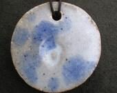 Chunky Stoneware Pendant Necklace
