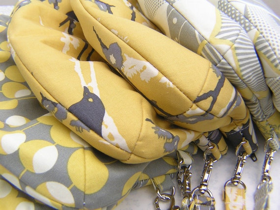 RESERVED 7 x janbag wristlets for BROOKH13, thanks, bridesmaids bag, bridal, bride, diaper bag, gift pouch - Spark