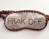 frak off sleep mask in brown and grey