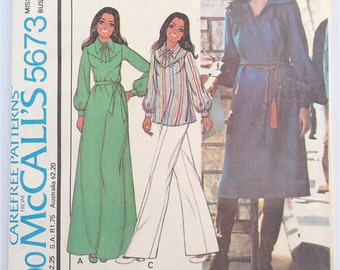 Vintage McCalls 5673 Marlo's Corner Dress and Tunic Pattern