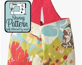 Grocery Tote Bag Sewing Pattern - PDF Pattern (Email Delivery) - 3 Sizes