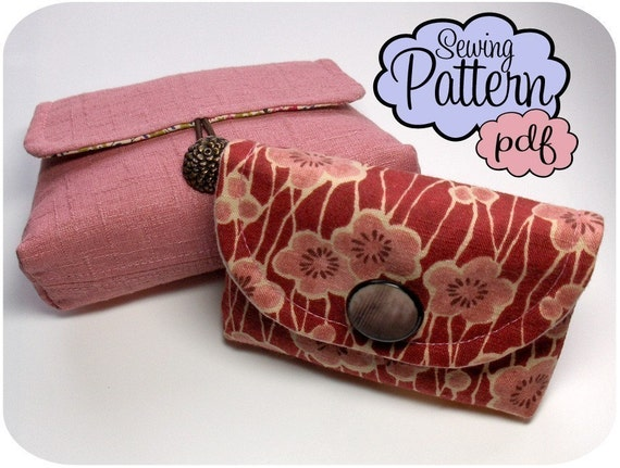 Box Wallet and Pyramid Pouch PDF Sewing Pattern