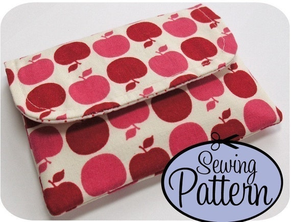 Wallet Pattern - Sewing Pattern to Make a Basic Wallet - PDF (Email Delivery)